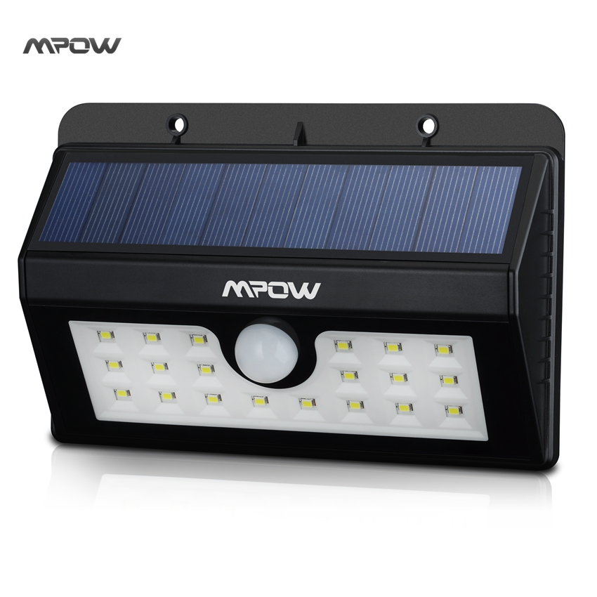 Mpow MSL7 Super Bright Solar Light 20 LED Security Motion Sensor Weatherproof Light with Three Intelligent Modes for Outdoor