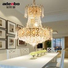 Современные золотые светодио дный светодиодные люстры осветительное оборудование Кристалл Блеск светодио дный LED обеденная лампа для украшения комнаты 45 см