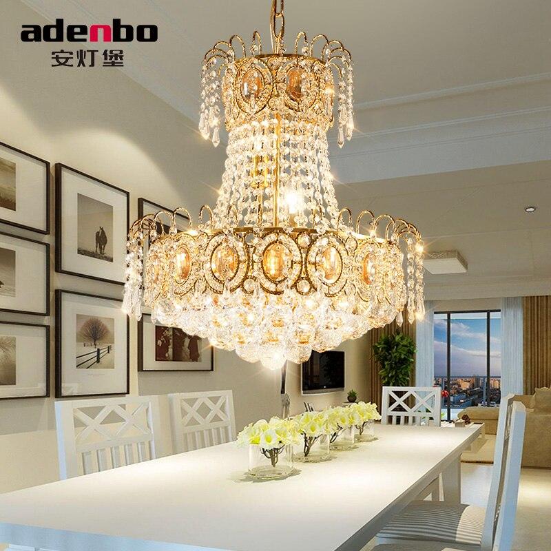 Or moderne LED Lustre Luminaire Lustres En Cristal Lustre LED Salle à manger Lampe Pour La Décoration De La Chambre 45 cm