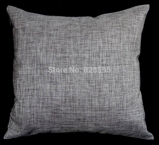 En05 24 X Inch 61 61cm Deep Gray Linen Cushion