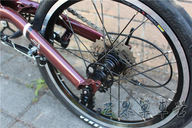 "HTB1MXKIXPzuK1RjSspeq6ziHVXaa Fnhon CR-MO Steel Folding Bike 16"" Minivelo Mini velo 9 Speed Bike  Bicycle overall bike V Brake"