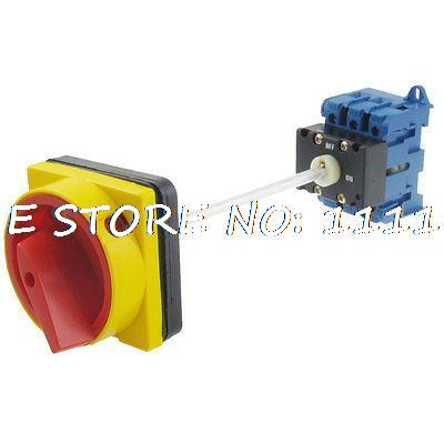 240VAC 440VAC on/off 6 Screw Terminals Rotary Changeover Switch