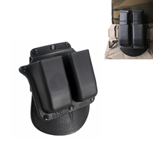 Tactcal Holster Mag Pouch 6900 Paddle Style Double Magazine Pouch For Glock 9mm .40 Cal Mags hot sale emersongear magazine ammo speed loader for 9mm 40 357 45 gap mags clip free shipping