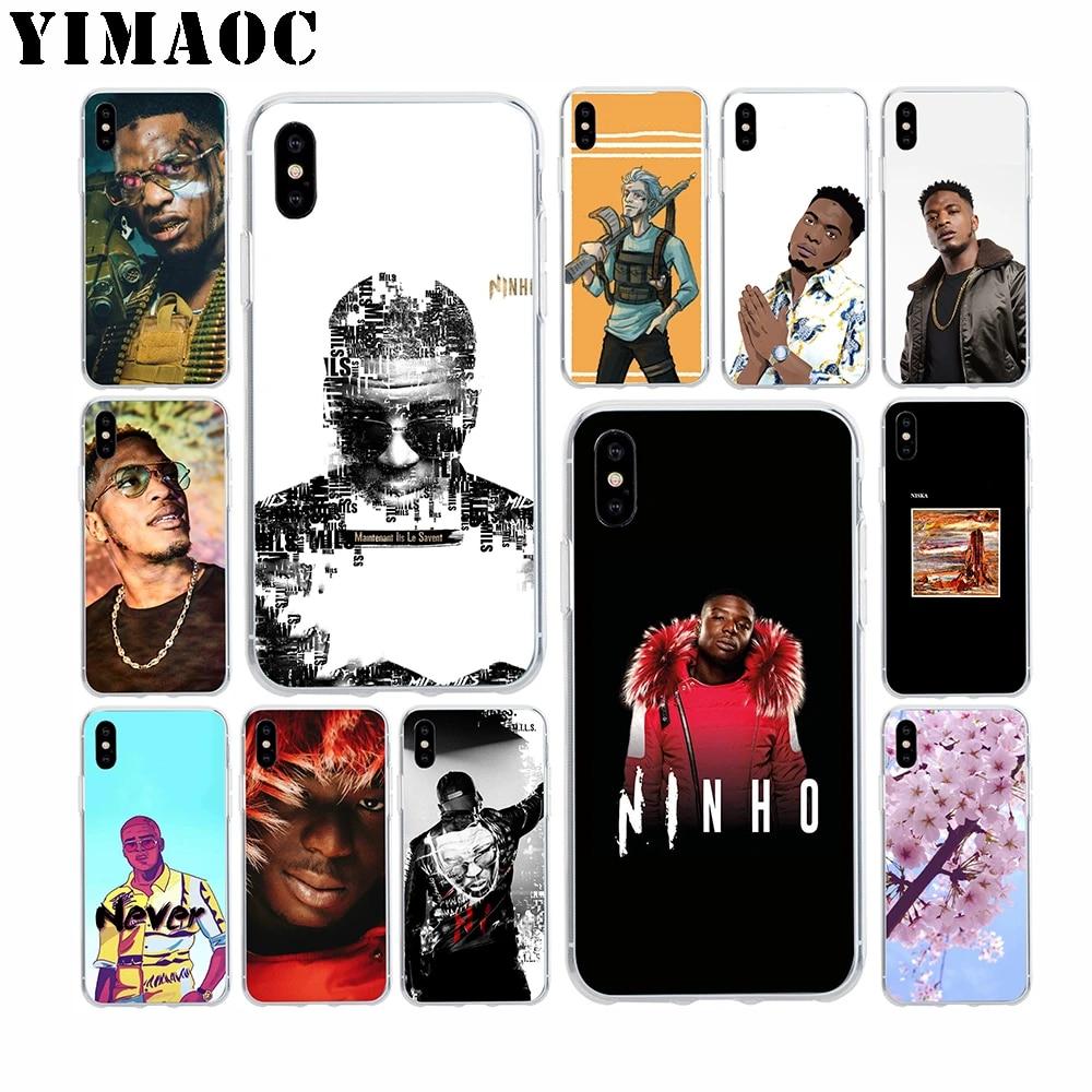 YIMAOC Ninho rappeur Niska coque en silicone souple pour Apple Iphone 11 Pro Xr Xs Max X 10 8 Plus 7 6S 6 Plus SE 5S 5 7Plus 8 Plus