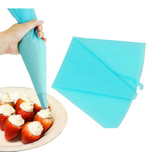 1Pcs Reusable Silicone Icing Piping Cream Pastry Bag Dessert Decorators Cake Cupcake Decorating Tools(China)