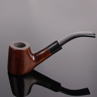 Flat Bottom Wood Activated Carbon Filter Smoking Pipe Manual Tobacco Pipes Cigar Narguile Weed Grinder Smoke
