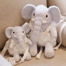 Cute Elephant kids backpack toy plush animal for children The shoulder bag Travel