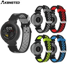 AKBNSTED Soft Silicone Replacement Bracelet Strap For Huami Amazfit Verge Wristband Smart Watch Sport Band Accessories