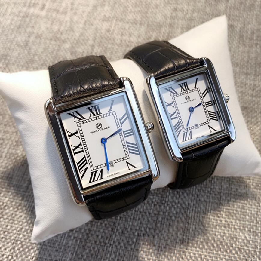 PABLO RAEZ Luxury Men Watch Fashion Quartz Lady Wristwatch часы женские Clock Women Watch montre часы мужские unisex lover watch(China)