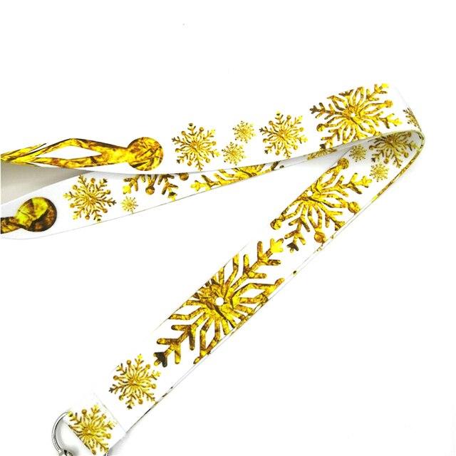 Фото брелок regooly re161 с золотой снежинкой и шеей ожерелье мультипликационным цена