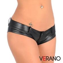 Leather Plus Size Women Sexy Panties Lingerie Wholesale Lots Bulk Briefs Underwear Lingrie Wetlook Mini Tanga Shorts