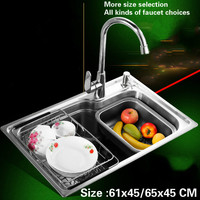 Free Shipping Kitchen Sink Food Grade 304 Stainless Steel 0 7 MM Small Single Slot Hot