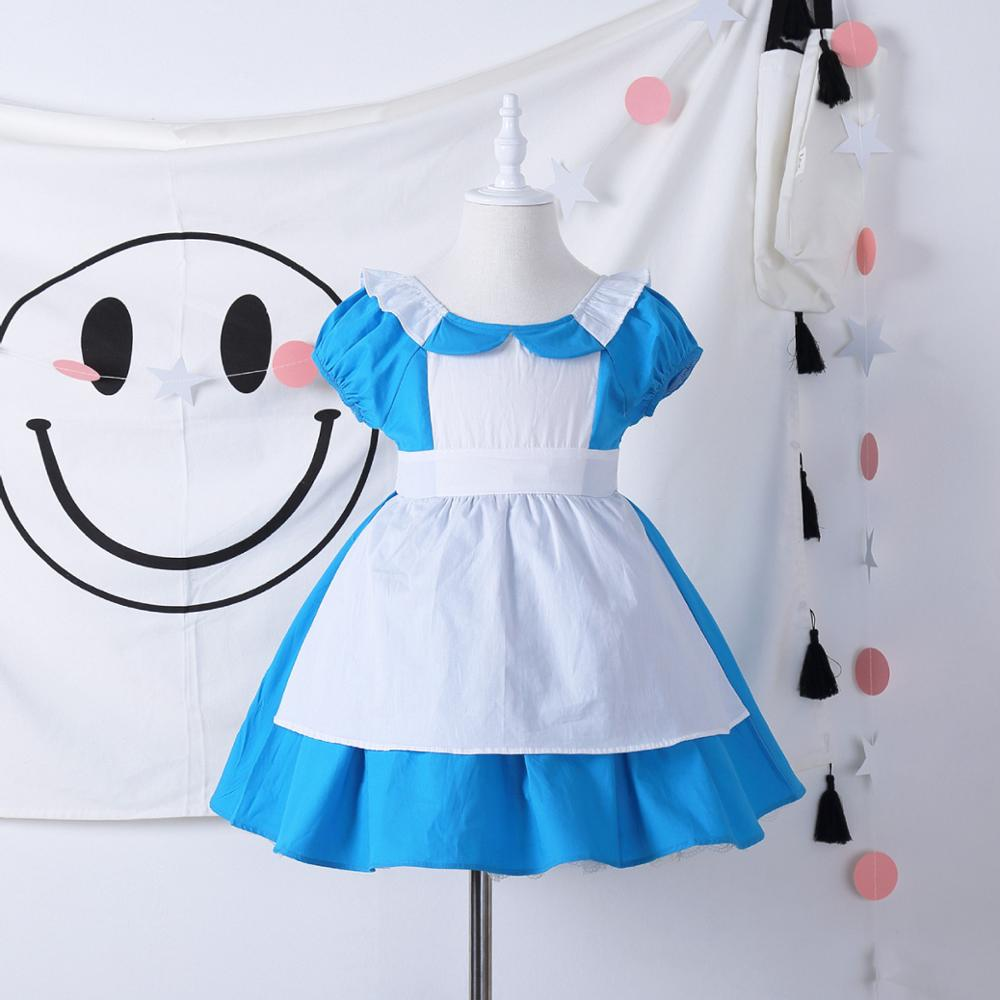 Alice in Wonderland Toddler Baby Girl Alice Costumes Princess Dress Kids Holiday Outwear