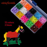 Abbyfrank 500G 2 6MM Hama Beads 72 Colors Perler Beads DIY 3D Puzzles Creative Jigsaw Educational