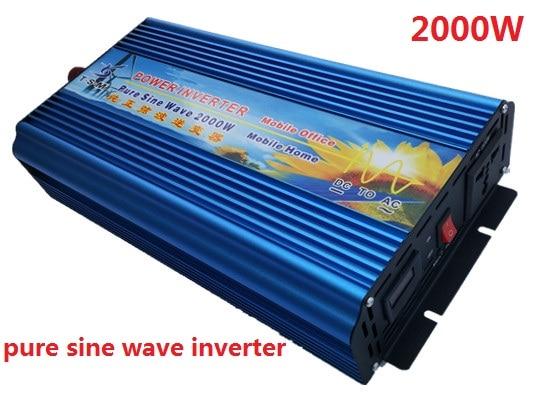цена на 2KW 2000W Pure Sine Wave Power Inverter 36V DC to 220V AC digital display