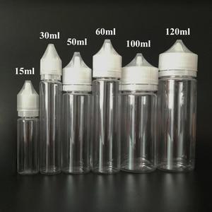 Image 3 - 100 adet boş yağ E sıvı şişe 10ml 15ml 30ml 50ml 60ml 100ml 120ml kalem şekli plastik damlalık şişe E suyu için tırnak jeli