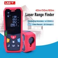 UNI T 40M 50m 60m Laser Rangefinder Digital Laser Distance Meter battery powered laser range finder tape distance measurer