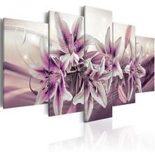 Постер с фиолетовыми цветами 5 шт настенная Картина на холсте