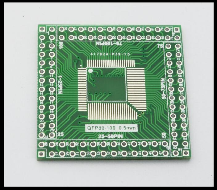 for EQFP LQFP100 80 SMT to the direct line CPU 0.5mm board to board