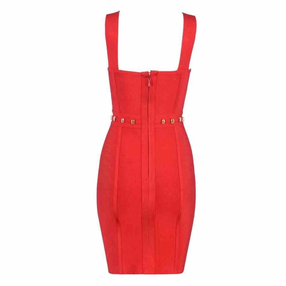 Сексуальные вечерние женские платья, уникальный дизайн, красные тонкие лямки, Бандажное платье, сексуальные вечерние платья для ночного клуба, Вечернее Платье облегающее платье