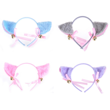 Милый обруч на голову Hairpinn игрушка подарок косплей аниме костюм вечерние головные уборы Kawaii кошачьи уши колокольчик бант