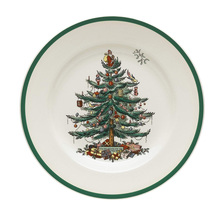 1 pcs  6.5 INCH Christmas Tree Plate  Ceramic Breakfast Beef Dishes Dessert Dish Fruit Snack Plate