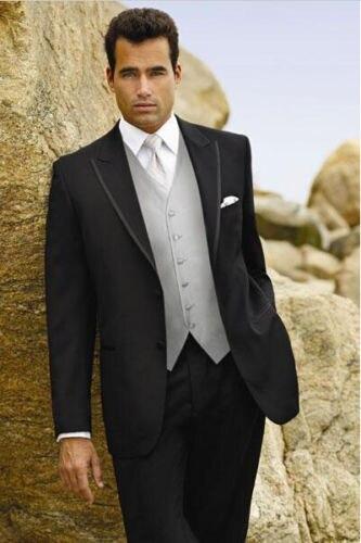 Vest Encargo Gris Jacket Unidades Formales Ropa Boda Negro Trajes De Los Hombres La Chaleco 3 Por En Traje Pants Con Esmoquin Empate UwaqfdxxI