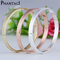 Female Love you Pattern Bracelets&Bangles Luxury Brand Cuff Charm Bracelet Bijou Gold Models Buckle Bangle Jewelry For Women