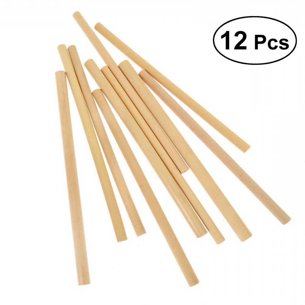 12x Bamboo Straws Eco-Friendly and Natural 8