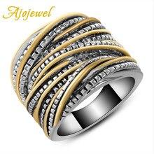 Ajojewelry – Bagues en métal pour hommes et femmes, large bande, style Punk, tendance