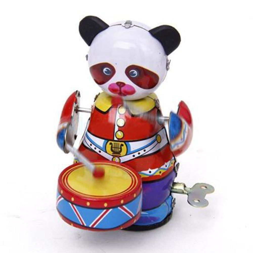 Tin-Toy Collectible Metal Cute Panda 1pcs Gift Wind-Up Retro-Style Vintage Colorful Hot-Sale