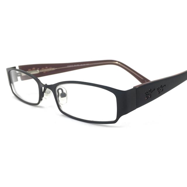 Laura Óculos Mulheres de Aço Inoxidável Moda de Fadas Flor Esculpida Dobradiça Flexível Elegante Optical Óculos para Visão