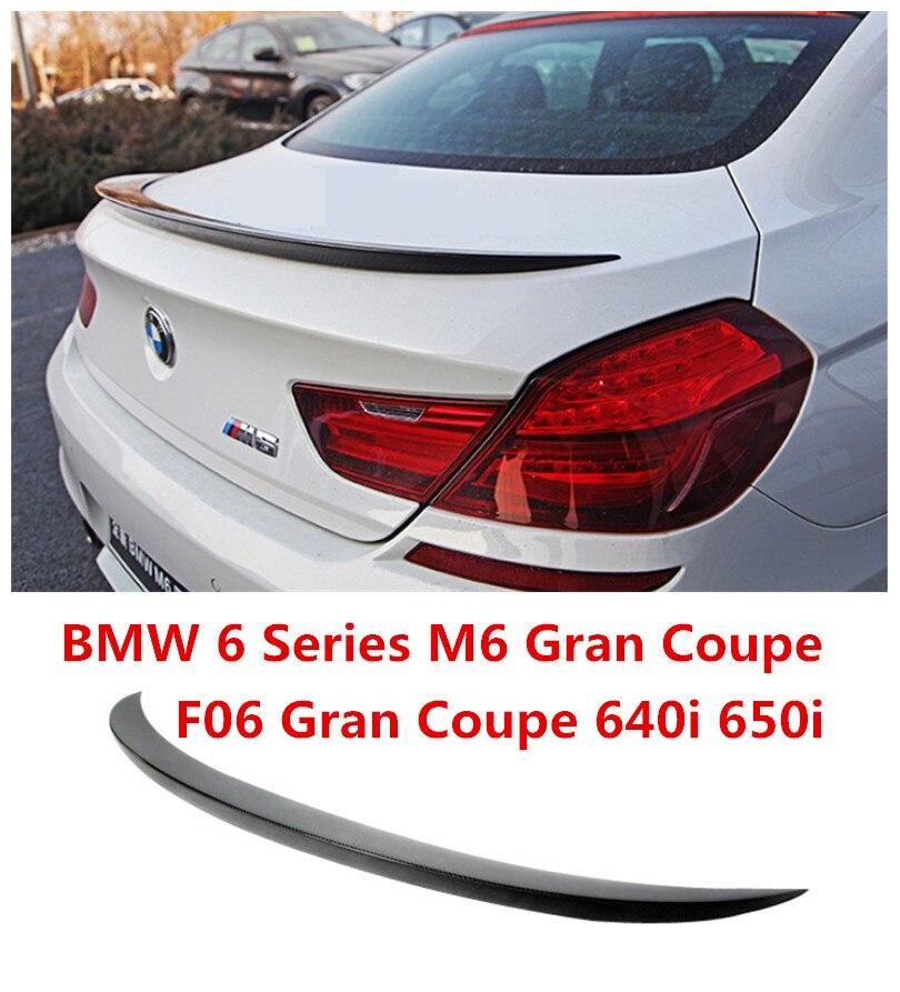 Fibra De carbono Spoiler Para BMW 6 Series F06 640i 650i M6 Gran Coupe 2011.12.13.14.15.2016.2017 Spoilers Asa Traseira Do Carro de Alta Qualidade