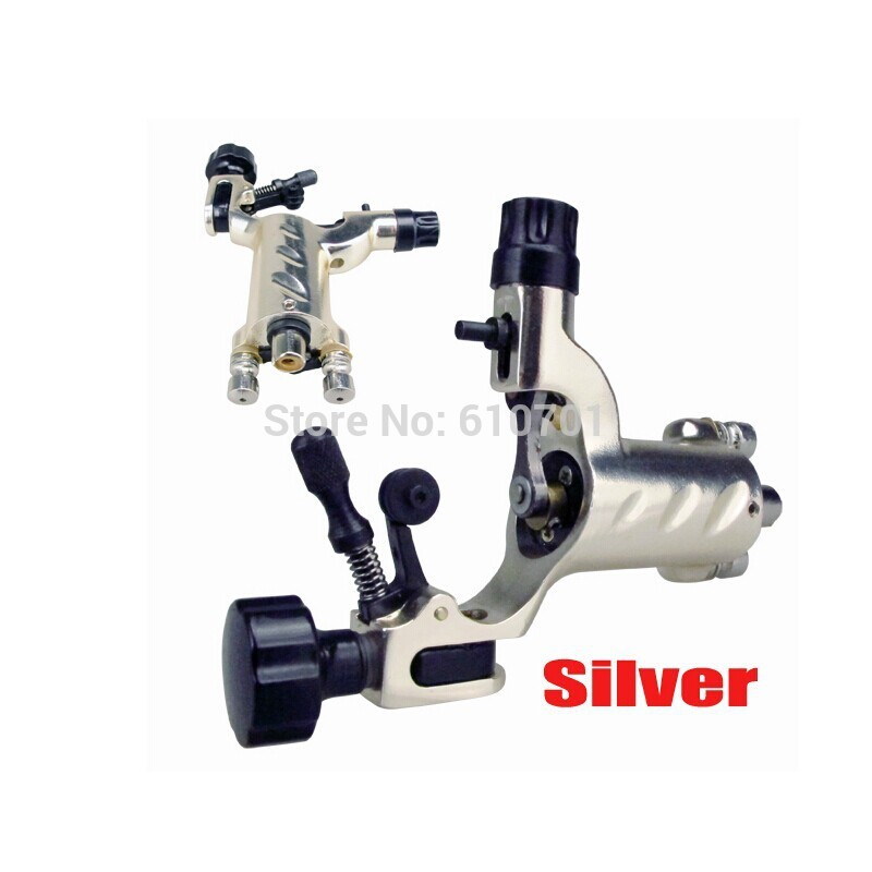 Sliver Red Green Rotary Dragonfly Motor Tattoo Machine Gun Supply Quiet Silent Light Weight Liner Shader with RCA Port Connector juqi dragonfly rotary motor tattoo machine gun sapphire blue