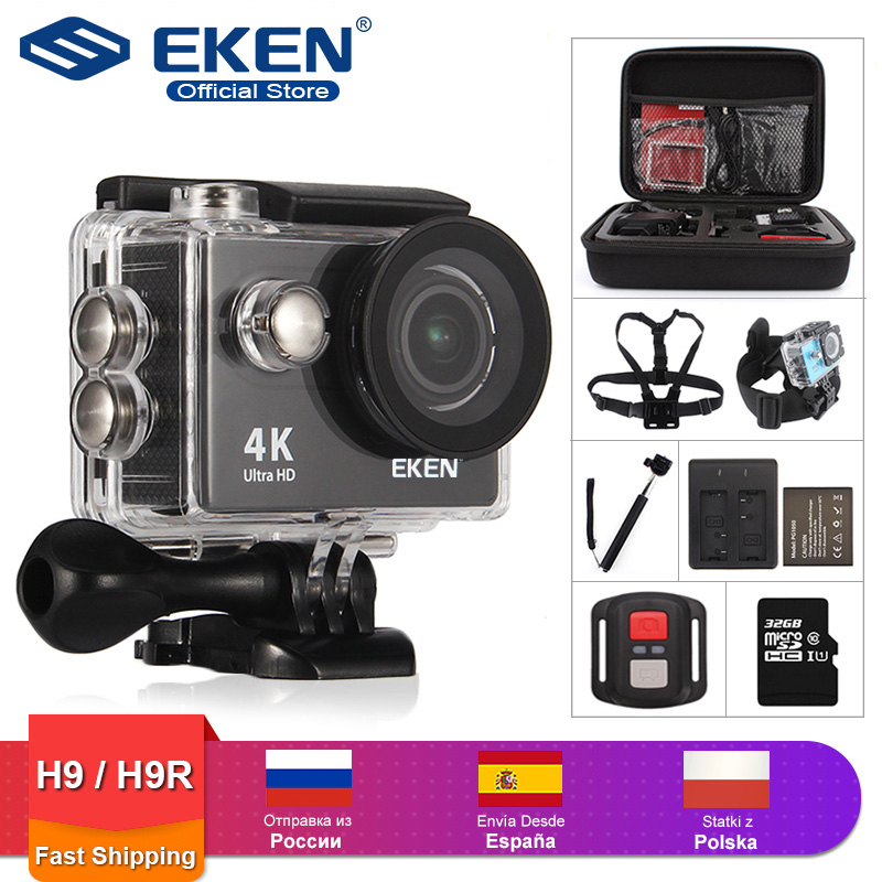EKEN H9R / H9 Action Camera Ultra HD 4K / 30fps WiFi 2.0 170D Underwater Waterproof Helmet Video Recording Cameras Sport Cam image