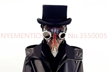 3pcs 31cm Bird Beak doctor Cosplay mask PU metal with resin Steampunk The Plague Doctor 1:1 scale Covenant Slipkn Figure Toys