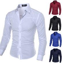 Men Luxury Stylish Formal Shirt Dress Casual Shirts Regular Fit 2019 Hot Sale