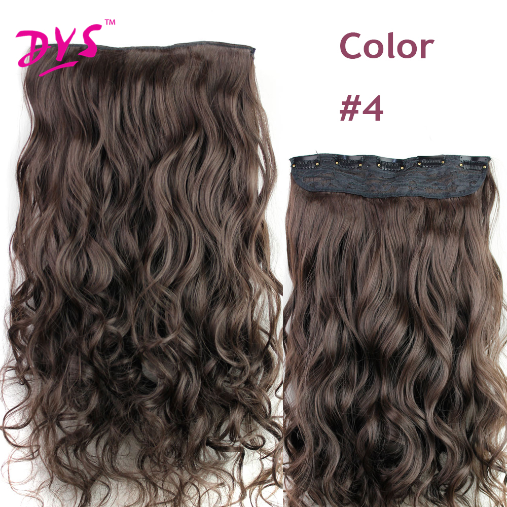 Deyngs 60CM One Piece 5 Clips in Hair Extensions For Women 34 Full Head Long Wavy16 Colors High Temperature Synthetic Fiber (4)