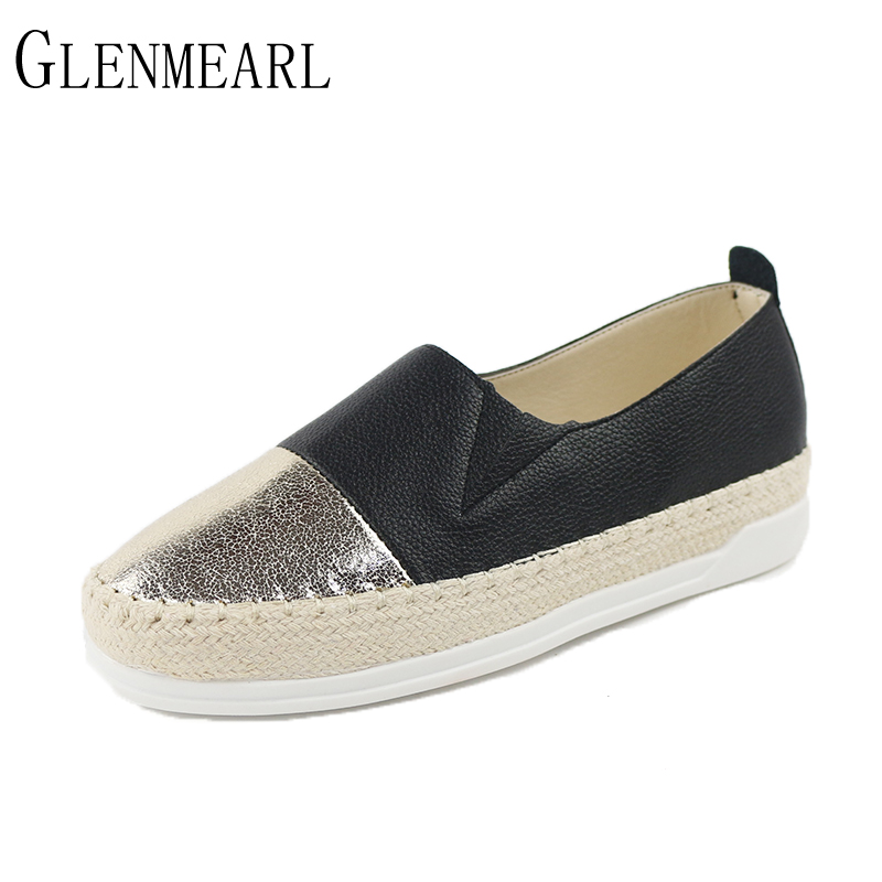 2018 New Autumn Women Flats Loafers Shoes Summer Straw Rope Round Toe Platform Fishermen Casual Shoes Lazy Single Flats ZK35 new shallow slip on women loafers flats round toe fishermen shoes female good leather lazy flat women casual shoes zapatos mujer