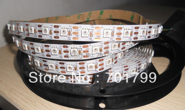 5m WS2811 LED digital strip,64leds/m with 64pcs WS2811 built-in tthe 5050 smd rgb led chip.non-waterproof,DC5V input