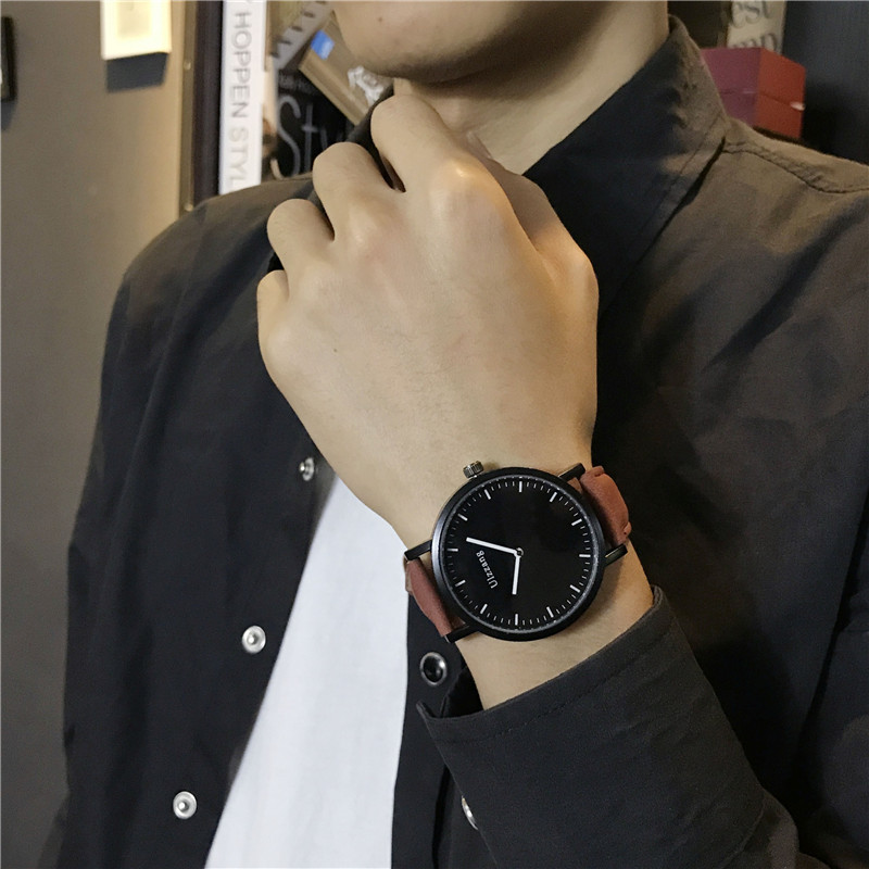 Big Dial Watch Male Students Korean Version Simple Trend Ulzzang Women Leisure A
