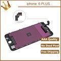 100 pçs/lote display lcd substituição da tela de toque de alta qualidade para o iphone 6 plus pantalla ecran com digitador assembléia grátis dhl