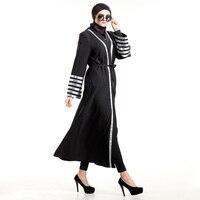 Yeni Ortadoğu Giysi Türkiye Abaya müslüman kadınlar uzun elbise resimleri türk robe Lady İslam Siyah abayas elbiseler giyim
