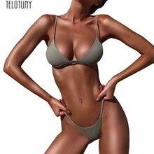 TELOTUNY, женский купальник, пуш-ап, мягкий бюстгальтер, пляжный комплект, купальник для женщин, обтягивающий купальник, модный,, новинка, Jan17