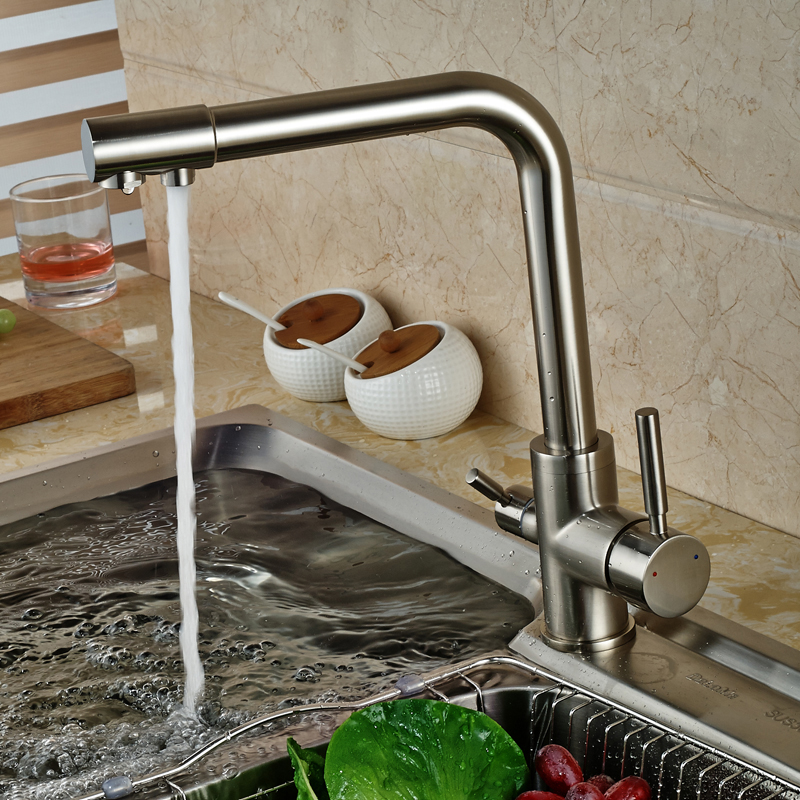 water filter for pull down faucet. ULGKSD New Design Kitchen Faucet Purification Water Filter Tap Pull  Down Two Spout Hot And Cold Mixer Taps In Faucets From Home