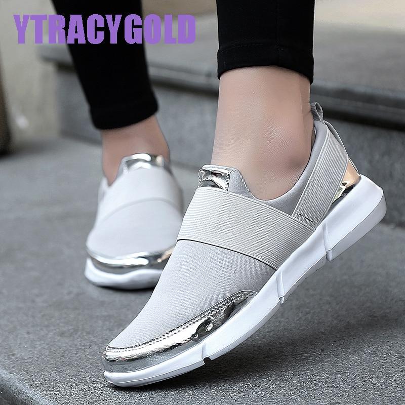 YtracyGold Women Casual Shoes Female Platform Shoes Women Slipony Krasovki Tenis Feminino Ladies Shoes Flats Zapatillas Mujer