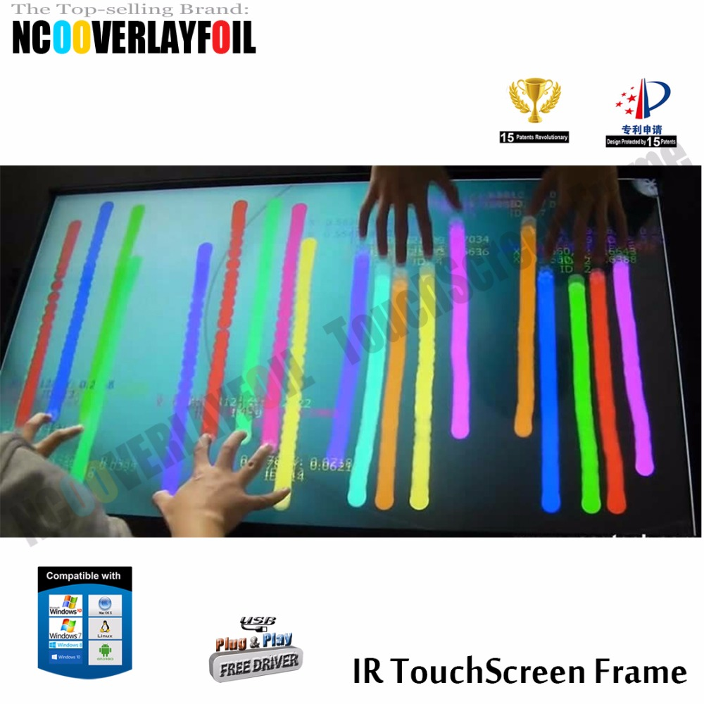 46inch 6 points Touch IR Multi Touch Screen Panel Without