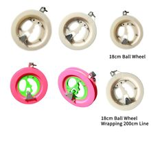 Family Children Outdoor Sports Activity Professional Plastic Kite Line Winder Handle Winding Reel Grip Wheel String Flying Tools