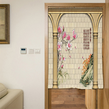 Door Curtain Short Kitchen Curtains Digital Printed Polyester Tube Curtain Rectangle Door Living Room Curtain