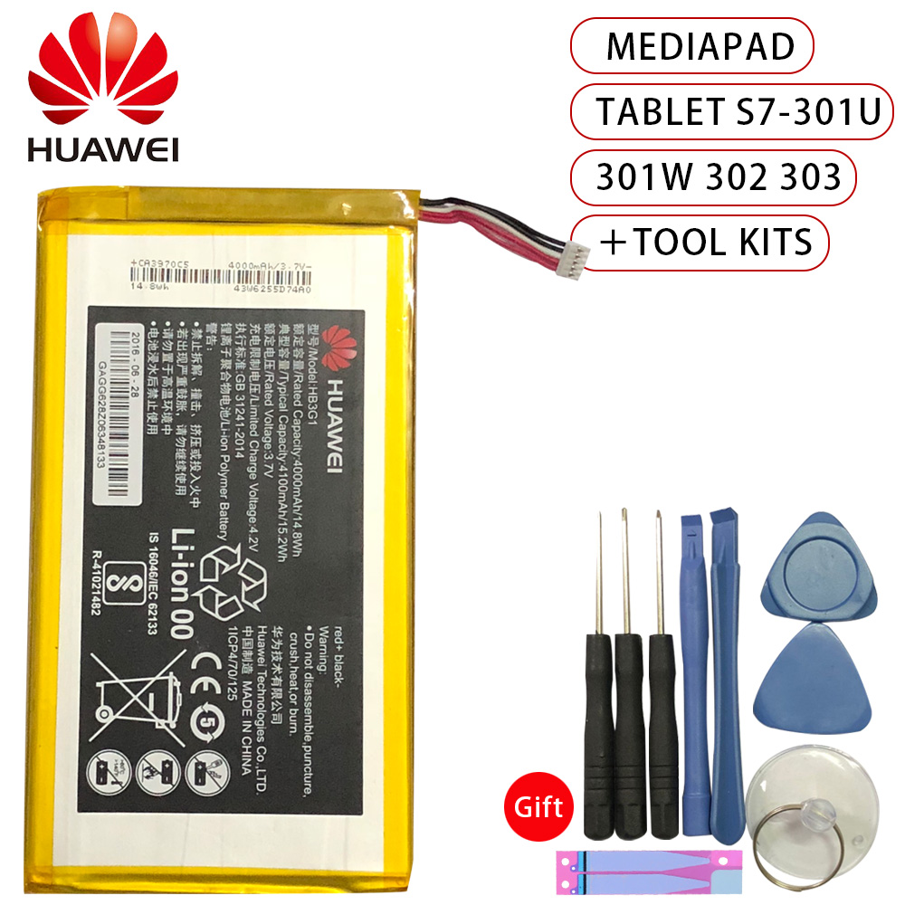 Hua Wei Original Replacement Tablet Battery HB3G1 HB3G1H for Huawei MediaPad 7 Lite S7 301u T Mobile Springboard 4000mAh in Mobile Phone Batteries from Cellphones Telecommunications